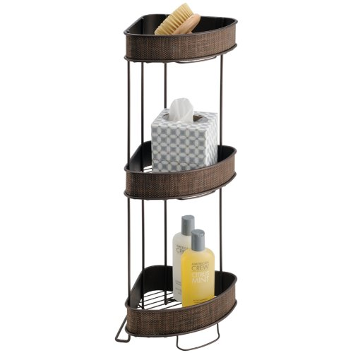 InterDesign Twillo 3-Tier Corner Shelf, Bronze
