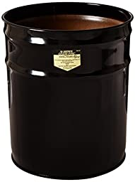 Justrite 26624K Cease-Fire Ash and Butt Receptacle with Aluminum Head and Grill Guard, 4.5 Gallon Capacity, 12-1/8\