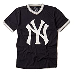New York Yankees MLB Mens Eephus T-Shirt by Wright & Ditson - Navy by Wright & Ditson