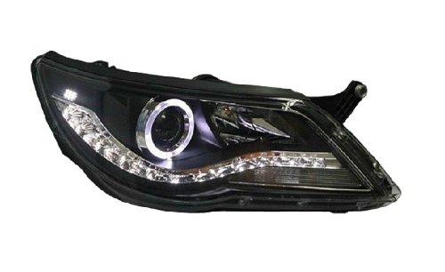 Auptech Volkswagen Tiguan 2009 2010 2011 Headlight Assembly Angel Eyes Halogen Hid Led Projector Headlight Lamp