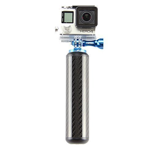 GoXteam discount duty free GoPro Floating Hand Grip for Hero 4, Session, Black, Silver, Hero+ LCD, 3+, 3, 2, 1 - Waterproof Carbon Fiber GoPro Camera Accessories - Includes Thumbscrew, Nylon Bag, Camera Strap