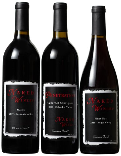 Naked Winery Red Hot Trio Mixed Pack (Vintage Library Edition), 3 X 750 Ml