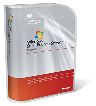 Windows Small Business Server Premium 2008 English 5 Client- 2 DVD