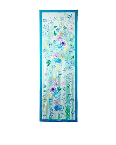 Salvatore Ferragamo Women's Patterned Scarf, Green/Blue/Multi
