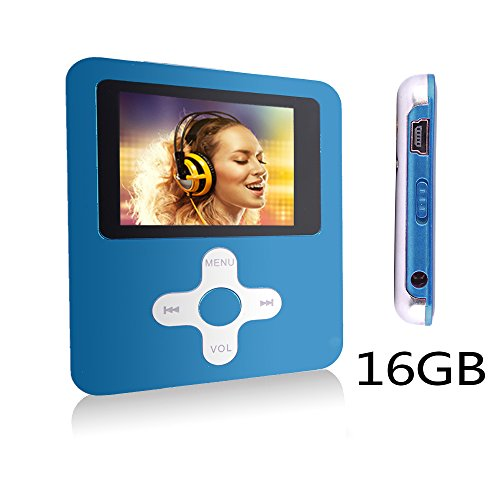 Btopllc 16GB Karte lecteur MP3 MP4 Musik Video Media Player Tragbare Enregistrement vocal-Player / Bild / Spiele / Kopfh?rer / Ebooks