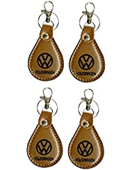 PARRK Volkswagen Full Leather Locking Keychain Pack Of 4