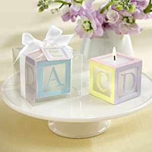 kateaspen Lettered Baby Block Candle, B is for Baby(4 count)