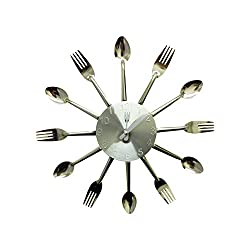 Creative Motion Clock with Fork and Spoon