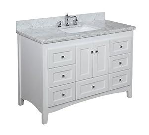 Abbey 48 Inch Bathroom Vanity Carrara White Includes