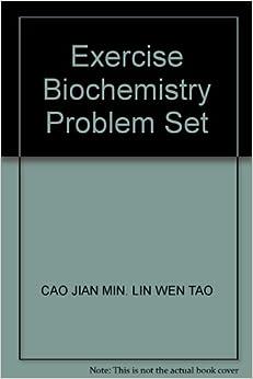 Exercise Biochemistry Problem Set: CAO JIAN MIN. LIN WEN TAO