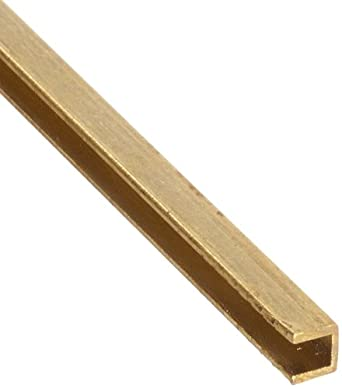 Brass C260 U-Channel, Precision, ASTM-B16