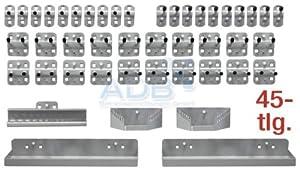 ADB Hakensortiment für Lochwand Werkzeugwand 45 teilig lichtgrau RAL 7035  BaumarktKundenbewertungen