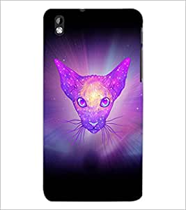 PrintDhaba Cat D-3461 Back Case Cover for HTC DESIRE 816 (Multi-Coloured)