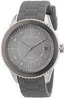 Esprit - ES105342008 - Montre Femme - Quartz Analogique - Cadran Gris - Bracelet Silicone Gris