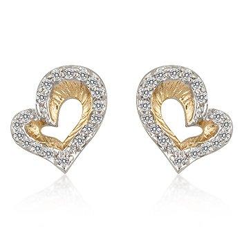 14kt Heart Earrings