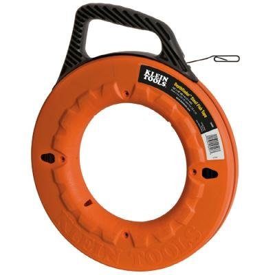 Klein Tools 56003 125-Feet Depth finder High Strength 1/8-Inch Wide Steel Fish Tape