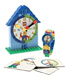 LEGO Time Teacher 9005008 Blue Set with Plastic Watch, Constructible Clock, and Activity Cards