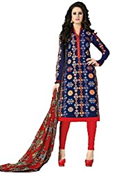 Vivacity Women's Silk Unstitched Dress Material (Singles-6_Multi_Free Size)