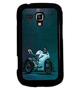 printtech Bike Superfast Back Case Cover for Samsung Galaxy S Duos 2 S7582