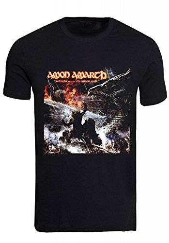 Rock-Maglietta Vintage Amon Amarth twilight on the thunder god nero Small