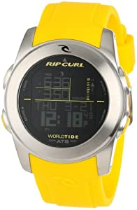 Buy Rip Curl Mens A1083 - YEL Pipeline Yellow Digital Tide Surfing Watch by Rip Curl