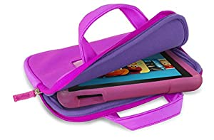 """Fire Kids Edition Essentials Bundle including Fire Kids Edition, 7"""" Display, Wi-Fi, 16 GB, Pink Kid-Proof Case, Nupro Screen Protector and Verso Sleeve"""