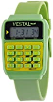 Vestal Unisex DAT001 Datamat Green and Yellow Calculator Watch