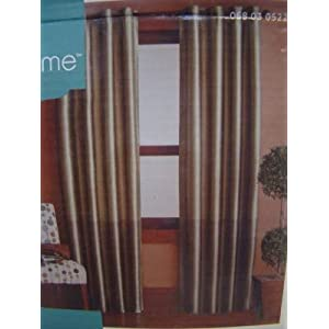 Canopy Lined Color Band Grommet-Top Energy-Efficient Curtain Panel
