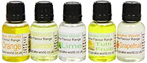 Cupcake World Intense Food Flavourings Citrus Pack 28.5 ml (Pack of 1, Total 5 Flavours)