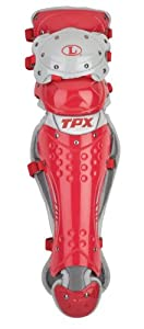 Louisville Slugger Pulse TPX Shin Guard, Scarlet, 16-Inch