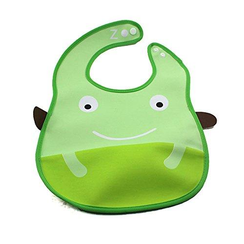 Cute Cartoon Animal Infant Toddler Bib Pvc Waterproof Baby Feeding Saliva Towel Frog front-1058166