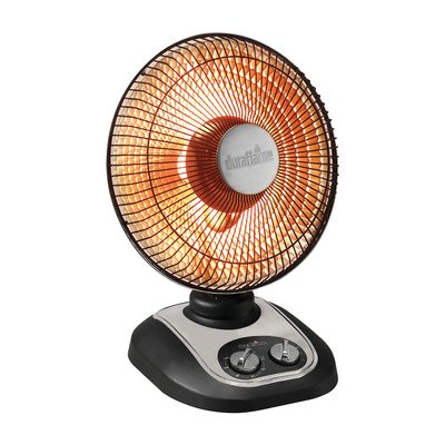 Duraflame DFH-IH-12-O Portable Electric Parabolic Oscillating Radiant Heater, Black