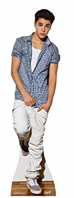 Justin Bieber Checkered Shirt Lifesize Standup Poster