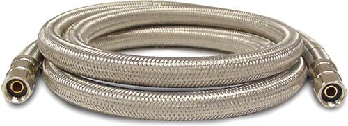Kissler 88-6080 Braided Ice Maker Line, 1/4-Inch Compression By 1/4-Inch Compression, Stainless Steel front-201873