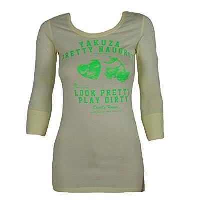 Yakuza Premium Damen Longshirt 1744 lightgelb