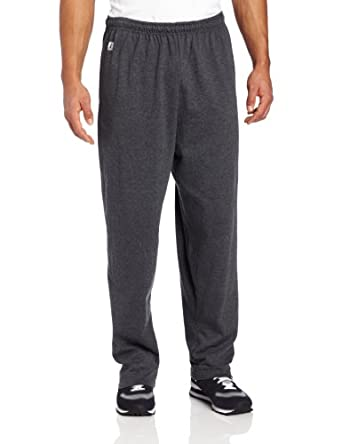 Russell Athletic Men's Open-Bottom Pant, Black Heather, Small