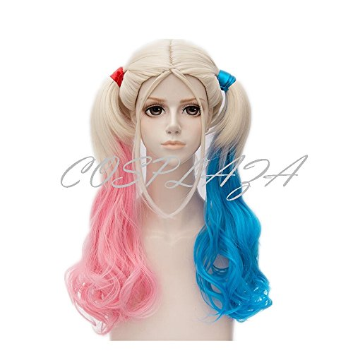 Costume Accessory Long Curly Wavy Mixed Color Party Hair