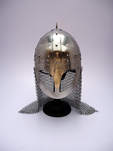 Viking Norse Spectacle Helmet - Steel - Wearable Costume