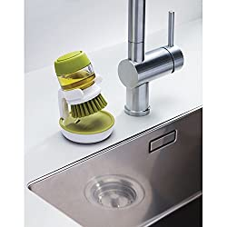 House of Quirk Palm Scrub Soap dispenser Washing-Up Brush with Storage Stand Soap dispensing palm brush with storage stand Cleaning Brush With Liquid Soap Dispenser, Self Dispenser Cleaning Brush