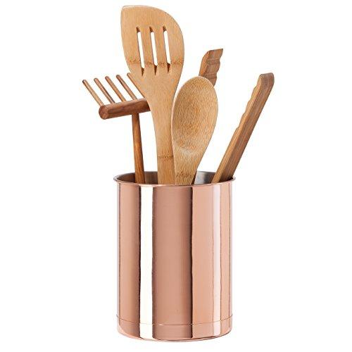 Oggi 7059.12 Copper Plated Stainless Steel Utensil Holder