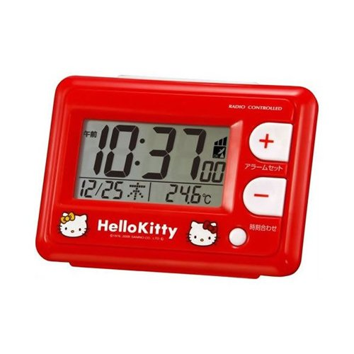 (Citizen / rhythm Watch) CITIZEN Hello Kitty radio alarm digital clock red 8RZ095RH01
