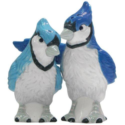 Westland Giftware Mwah Magnetic Blue Jays Salt and Pepper Shaker Set, 3-3/4-Inch