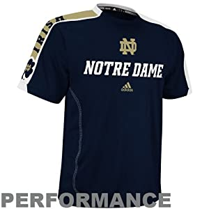 Notre Dame Fighting Irish adidas Navy Sideline Swagger Performance T-Shirt by adidas