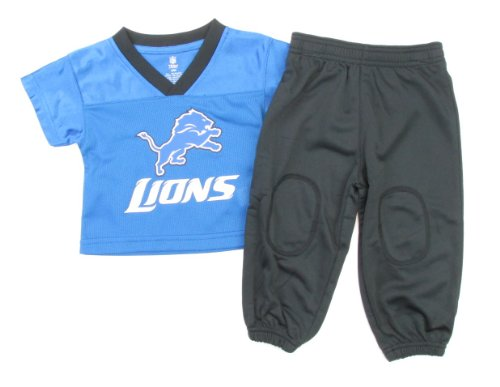 Outerstuff Detroit Lions Infant/Toddler L/S Jersey & Sweatpant Set (12 Months) at Amazon.com