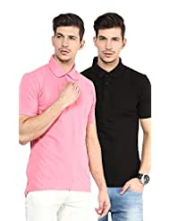 Yellow Submarine Men'S Pack Of 2 Cotton Polo T-Shirt With Collar - B010AOBBJE
