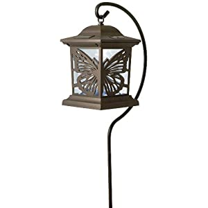 Click to read our review of Moonrays 91611 Solar Powered Butterfly Silhouette Path Fixture, Stake Light or Hanging
