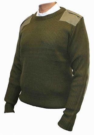 Blue Castle Crew Neck Combat Pullover (XXXL, Olive Green)