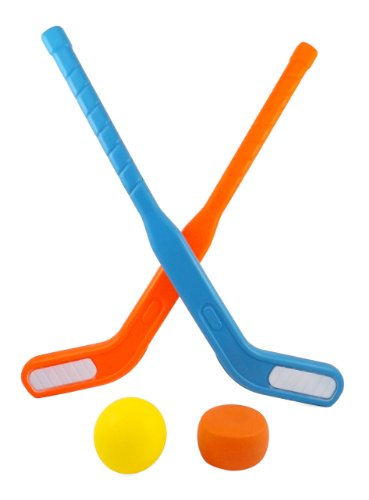 Face Off Dual Hockey Sticks Sports Set for Kids Puck & Ball (Plastic Ice Hockey compare prices)