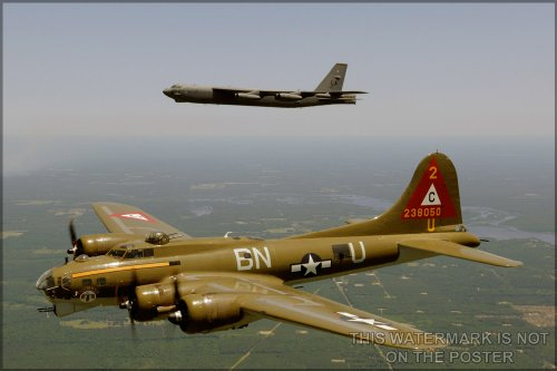 B-52 Stratofortress with B-17 Flying Fortress - 24