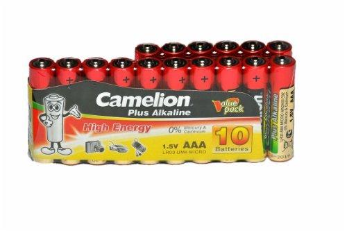 Lot de 16 piles micro aAA camelion plus alkaline uM4 1,5 v type aAA lR03